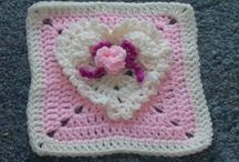 Crochet Afghan  Squares / Patterns and ideas for squares that can be made into an Afghan.