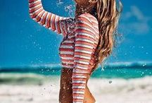The Coolest Surfer Girl Style / From the bikini bottom cut that's truly the most flattering to the truth behind effortless, beachy hair..