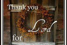 Thanksgiving & Fall Things