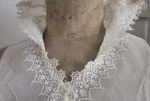 ♥antique lace and crochet collar♥ / WELCOME