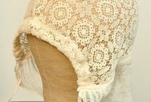 ♥antique lace and crochet bonnet♥ / WELCOME
