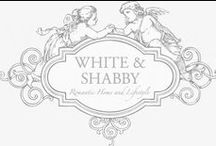 ♥shabby white&cream&silver and brocante decoration♥ / WELCOME