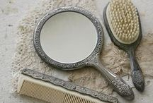 ♥antique hand mirror♥ / WELCOME
