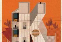 Alphabet of architects / Concept de Federico Babina's