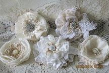♥lace and crochet flowers♥
