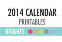 2014 Calendar Planner Printables - DIY Planner / 2014 Calendar Planner Printables