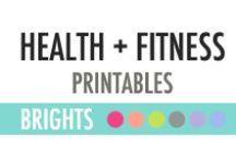 Health + Fitness Printables - DIY Planner / Health + Fitness Printables - DIY Planner
