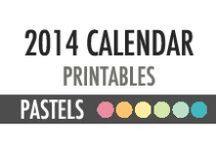 2014 Printable Calendars - DIY PLANNER - Pastels / 2014 Calendars - DIY PLANNER