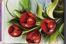 Pintura tecido / Basicamente voltado para técnica em tecido porém podem ser aplicadas em telas ou ilustrações / by Helky Carneiro