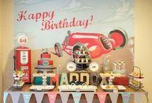 Racing Car Birthday Theme / Some cool racing car party ideas. #kidspartyideas #racingcarparty