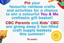 Rainbow Fun / Bright and colourful rainbow crafts and activities for kids.   Powered by our #CraftasticGiveaway. Pin your favourite rainbow crafts and activities for a chance to win a basket of craft supplies!   Details: https://www.pinterest.com/pin/380413499753183380/ / by CBC Parents + Kids' CBC