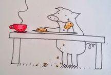 cafeluta cu purcel / E Porchi