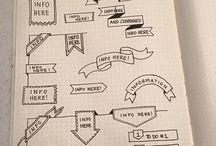 Desenhos nos Cadernos