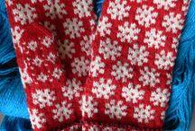 Knitting : mittens