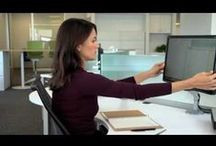 Monitor Arms / Give your neck a rest - computer monitor arms lift your monitor to the ideal viewing position, relieving neck and shoulder pain.  / by Ergoprise Ergonomics