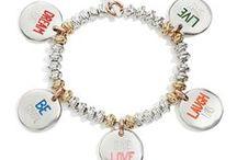 Bracciali CIVITA / Beads oro rosa 9k, oro giallo 9k, argento e giaietto