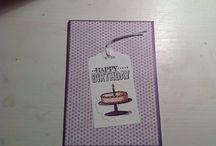 Zelfgemaakt / Door mij zelf gemaakte kaarten met de producten van o.a. Stampin'Up, Tim Holtz en Hema.