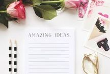  Office Stationary / Pretty stationary ideas for home offices and small businesses