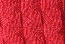 Knitting : patterns / stitches