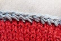 Knitting : cast off / bind off