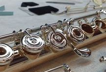 Flute Builder / Pins from our blog about flute making.  Take a peek into the Verne Q. Powell Flutes shop and see how flutes, piccolos, and headjoints are made!