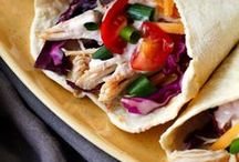 Tacos Recipes / I'm pinning my favorite taco recipes! These are the best easy and healthy tacos around. You'll find chicken, beef, shrimp, fish, and vegetarian tacos. There are plenty of unique and authentic taco recipes for dinner. Tacos are the best!