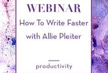 Productivity Tips for Writers + Authors / writing tips, writers block, time management, writing schedule, time management for writers, time management for authors, productivity for authors