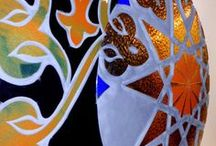 LIGHTING CIRCLES - METALLIC & DICHROIC -  DECORATION & INTERIOR DESIGN - GLASS ART / These large decorative artworks have been made using the Glass Fusing Technique with Metals as Titanium, Gold and Platinum. They are ready to be placed in a wall including a Retro-LED lighting system. Please, feel free to contact us for a quotation, shipping fees and further details to: josepsanjuanpla@gmail.com