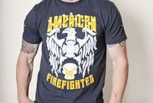 American Firefighter / Our American Firefighter series of t-shirts, hats and hoodies by Fire And Fuel Apparel.
