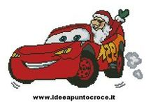 SCHEMI CARS DISNEY / SCHEMI PUNTO CROCE CARS  REALIZZATI DA WWW.IDEEAPUNTOCROCE.IT
