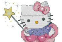 SCHEMI HELLO KITTY / SCHEMI PUNTO CROCE HELLO KITTY - WWW.IDEEAPUNTOCROCE.IT-