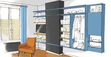 DOUDO / Rénovation d'un studio dans le 18ème arrondissement de Paris. Projet coloré et géométrique!