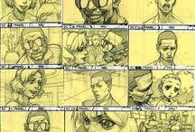 StoryBoard / Storyboard, conti, draft drawing