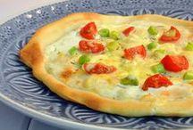 *Pizza / Pizza, vegetarische Pizza - Rezepte