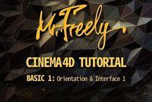 Mr.Freely's Cinema 4d Tutorial / Cinema4d & MotuonGraphics