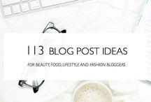 blogpost ideas