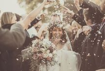 Confetti Alternatives / The tradition of throwing confetti over the bride and groom comes from Italy.   Before paper confetti, there were flowers, petals, grain or rice thrown at the happy couple, to bestow prosperity and fertility. Now with so many restrictions at venues, my couples are often looking for alternatives #confetti #confettibar #bubbles #flags #sparklers #balloons