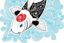 """Art et Be - Série """"Kois & Be"""" / Dessins réalisés à la main © Sabrina Beretta - Art et Be  Site : http://artetbe.fr/    Facebook : http://facebook.com/artetbe Tous droits réservés Facebook : http://facebook.com/artetbe"""