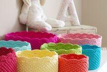Crochet Rug & Pouf & Basket...