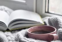 Lazy days, Sleep & Coffee. / Hot coffee, a blanket and a good book.