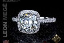 Heavenly Halos / Designs for custom made, handcrafted halo engagement rings - all designs by Leon Mege