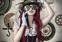 Steampunk Fashions / Steampunk, Neo-Victorian, Dieselpunk and/or Weird West clothes get to hang out on this board. Mostly photos, but there are some drawings thrown in.
