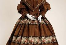 Fashion 1850s & 1860s / The middle of the Victorian era for mostly ladies clothes. We're talking hoop-skirts, the Civil War and lots of bonnets. Fun times!