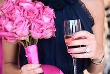 Pink & Navy Weddings