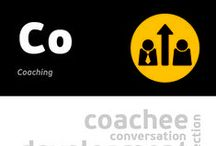 [Co] Coaching / Coaching is an interactive process, in which two engaged sides - coach and coachee - are focusing on solving (not searching for a reason) a particular problem. The purpose of coaching is to search for people's strengths and help them overcome their weaknesses. Most often, coaching is a one to one meeting of coachee and coach, aimed directly at job coaching or life coaching.