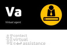 [Va] Virtual agent / Virtual agent is a mechanism allowing to communicate with an information base using natural human communication processes ( such as voice questions, hand-written language). Such communication is held by an avatar, a visual representation of a person in a form of animated pictures or films, who answers a given question using information from the base. Data bases becoming more and more effective, very often able to learn on their own, gain the right to be named artificial intelligence systems.