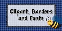 Clipart, Borders and Fonts