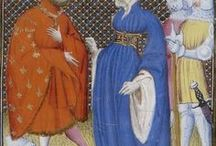 15th Century Dress / Dress of the 1400s for women of Europe. Art and manuscript illustrations, primarily. Mostly for women, but some men's dress as well.