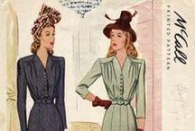 1940s Fashion / Fashions of World War II.