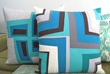 Quilted Pillows / Fluffy and gorgeous!  A place to lay your head! Quilted Pillows / by Twiggy & Opal